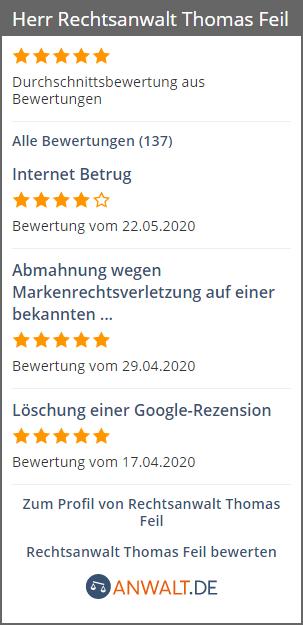 Sie finden uns auch bei: anwalt.de