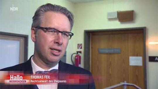 Rechtsanwalt Thomas Feil bei NDR Hallo Niedersachsen