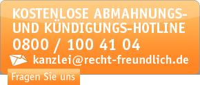 Kostenlose Hotline: 0800 100 41 04