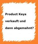 abmahnung microsoft product keys
