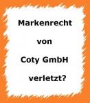 markenrechtsverletzung coty gmbh abmahnung