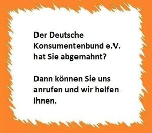Abmahnung Deutscher Konsumentenbund e.V.