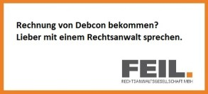 Rechnung bekommen Debcon GmbH Forderung